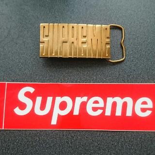 シュプリーム(Supreme)のSUPREME ロゴ バックル 金(ベルト)