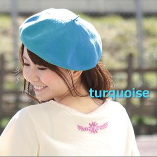 チチカカ(titicaca)のチチカカ ベレー 帽子 レディース ベレー帽 帽子 ニット帽 ターコイズ(ハンチング/ベレー帽)