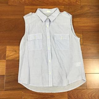 ジーユー(GU)のノースリーブ シャツ(シャツ/ブラウス(半袖/袖なし))