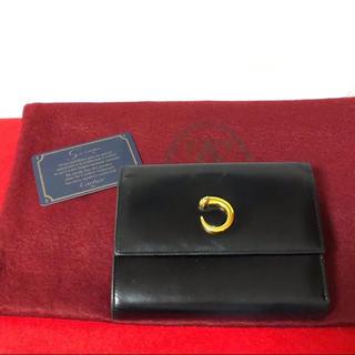 805f2d9549c6 カルティエ(Cartier)の☆ レア 可愛い カルティエ パンサー オールレザー 二つ折り 三つ折り