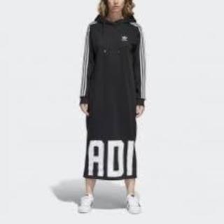 アディダス(adidas)のadidasパーカーロングワンピ(ロングワンピース/マキシワンピース)