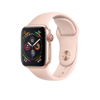 アップル(Apple)の美品Apple Watch Series 4 GPS+Cellular 40mm(腕時計)