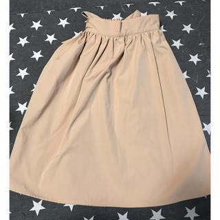 バイバイ(ByeBye)のByeBye リボンスカート ベージュ(ひざ丈スカート)