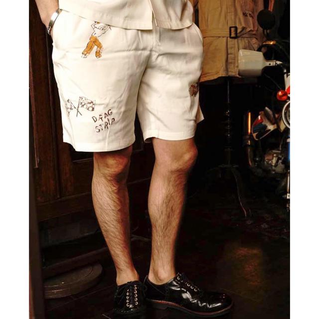 Lewis Leathers(ルイスレザー)の試着のみ OLD CROW SPEED RACE SHORTS XL 送料込み メンズのパンツ(ショートパンツ)の商品写真
