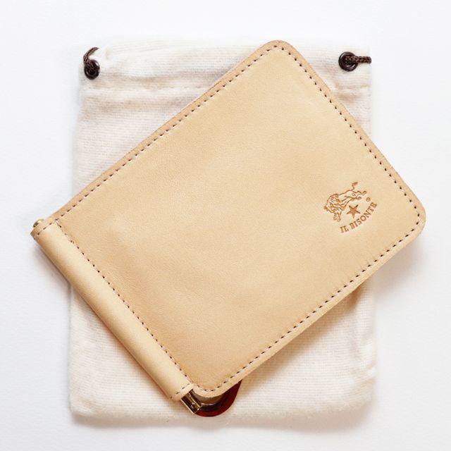fa5f527210e0 IL BISONTE(イルビゾンテ)の新品 正規品 イルビゾンテ 二つ折り財布 マネークリップ レザー ヌメ