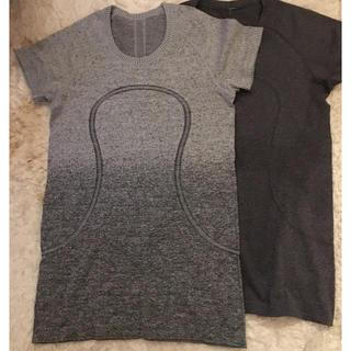 ルルレモン(lululemon)のルルレモンサイズ8 グレー系半袖2枚セット(ヨガ)