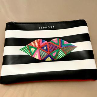 セフォラ(Sephora)のSEPHORAボーダー&刺繍柄のポーチ (ポーチ)
