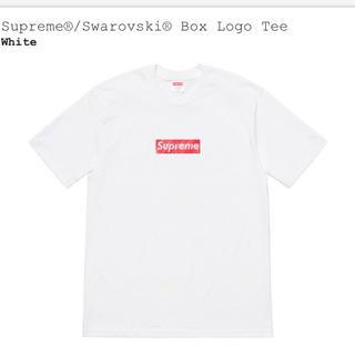 シュプリーム(Supreme)の supreme  swarovski box logo tee スワロフスキー(Tシャツ/カットソー(半袖/袖なし))
