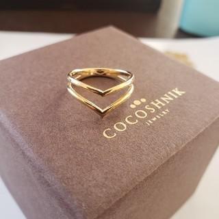 ココシュニック(COCOSHNIK)のココシュニック 10金 リング(リング(指輪))