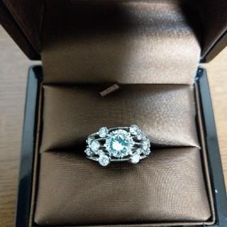 ゴージャス、鑑定書つき、ダイヤモンドリング(リング(指輪))