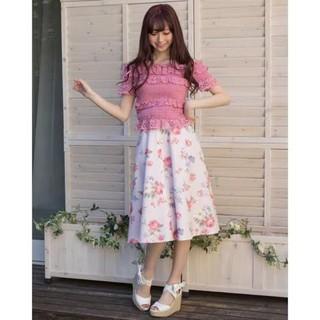 リズリサ(LIZ LISA)のヴィンテージフラワースカート(三日後削除)(ロングスカート)
