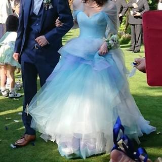 カラードレス  ウェディング ブルー(ウェディングドレス)