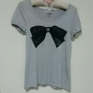 パウダーシュガー(POWDER SUGAR)のリボンが可愛いTシャツ(Tシャツ(半袖/袖なし))