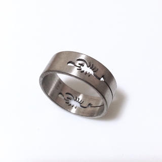 同時購入で350円 ステンレス指輪リング スコーピオン透かし彫り(リング(指輪))