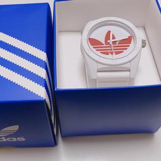 アディダス(adidas)のadidas☆腕時計 白×赤(腕時計)