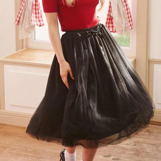メゾンドフルール(Maison de FLEUR)のmaisondefleur petite Robe チュールスカート(ロングスカート)