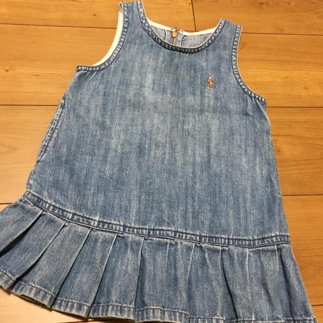 Ralph Lauren(ラルフローレン)のラルフローレン デニム ジャンパースカート 90 キッズ/ベビー/マタニティのキッズ服 女の子用(90cm~)(ワンピース)の商品写真