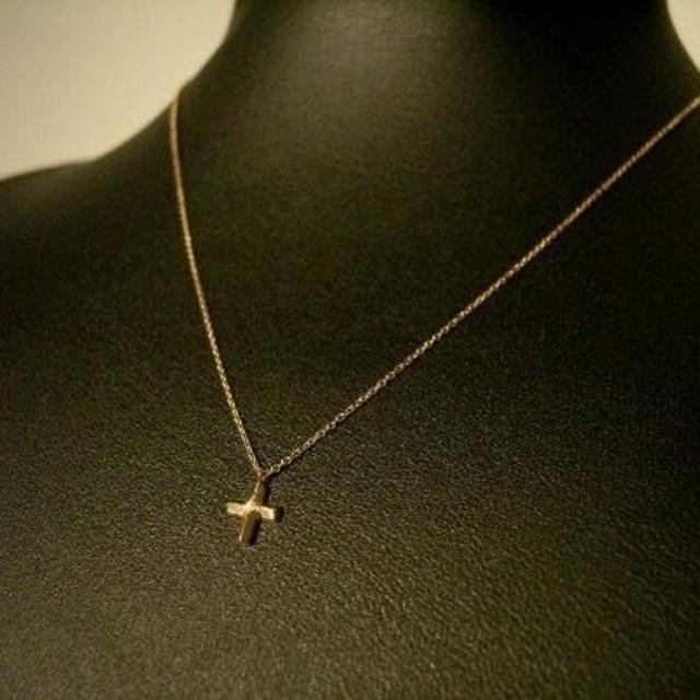 EYEFUNNY(アイファニー)のアイファニー SSS イエローゴルドクロスネックレス メンズのアクセサリー(ネックレス)の商品写真