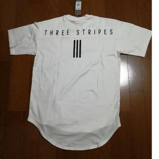 アディダス(adidas)のCHANEL ☆00様専用adidasバックプリントT 白L 未使用タグ(Tシャツ/カットソー(半袖/袖なし))