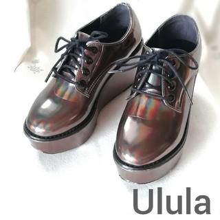 ウルラ(Ulula)の『Ulula/ウルラ』厚底シューズ/オックスフォード/紐靴/S(22.5)玉虫色(その他)