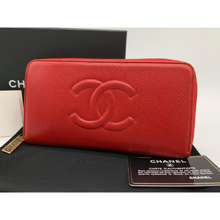 c0cdca5d1bf0 シャネル キャビアスキン 財布(レディース)(レッド/赤色系)の通販 100 ...