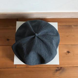 ネストローブ(nest Robe)のmature.ha 春、夏用 ベレー帽 グレー(ハンチング/ベレー帽)