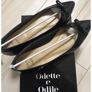 Odette e Odile - オデットエオディール エナメルポインテッドパンプス
