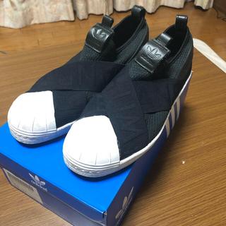 アディダス(adidas)の(美品)(箱付)adidasスリッポン26.5(スリッポン/モカシン)