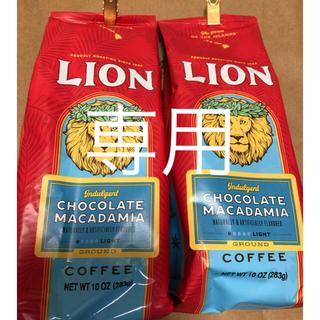 ライオン(LION)のライオンコーヒー バニラマカダミア283g2袋(コーヒー)