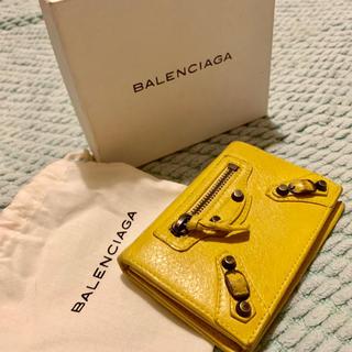 バレンシアガ(Balenciaga)のBALENCIAGA レザー カードケース イエロー(名刺入れ/定期入れ)