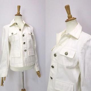 ラルフローレン(Ralph Lauren)の大きめサイズ!ラルフローレン 春向き◎ライトデニムジャケット ホワイト(Gジャン/デニムジャケット)