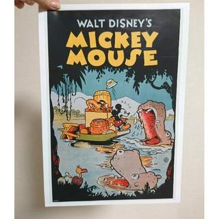 ディズニー(Disney)のヴィンテージミッキーとプルート ポスター(額絵)+1枚おまけ(ポスター)
