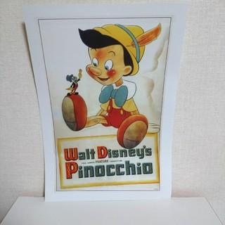 ディズニー(Disney)のヴィンテージピノキオポスター(額絵)+1枚おまけ(ポスター)