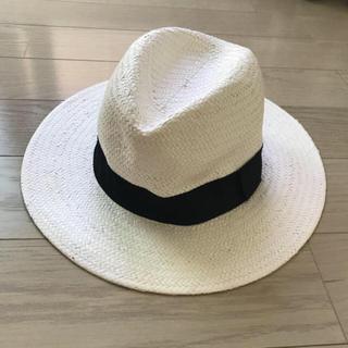 ウィゴー(WEGO)のWEGO 白 ハット 麦わら帽子 夏 サマー(麦わら帽子/ストローハット)