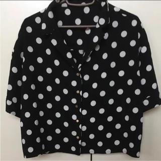 ミスティウーマン(mysty woman)の新品  ミスティウーマンドットシャツ  黒(Tシャツ(半袖/袖なし))