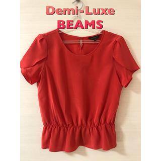 デミルクスビームス(Demi-Luxe BEAMS)のDemi-Luxe BEAMS 半袖ブラウス  ビームス とろみ 春夏(シャツ/ブラウス(半袖/袖なし))