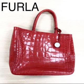 6be098e41791 フルラ(Furla)の美品 FURLA フルラ 2way ショルダーバッグ 型押しレザー(