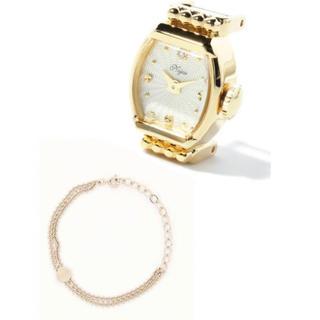 ノジェス(NOJESS)のNOJESS オーバルフェイスダイヤモンドジュエリーウォッチ (腕時計)