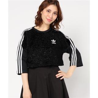 アディダス(adidas)の【adicolor】 Tシャツ [CROPPED 3 STRIPES TEE](Tシャツ(長袖/七分))