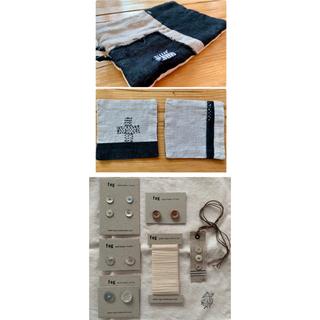 フォグリネンワーク(fog linen work)のfog linen workセット& リネン鍋つかみ*リネンコースターセット(各種パーツ)