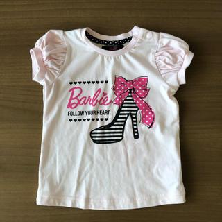 バービー(Barbie)のキッズ トップス ピンク サイズ90 Barbie ハイヒール柄 Tシャツ(Tシャツ/カットソー)