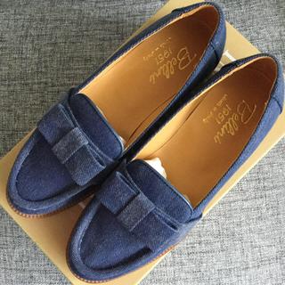 ディエゴベリーニ(DIEGO BELLINI)のDIEGO BELLINI 【新品、未使用】リボンデニムローファー(ローファー/革靴)