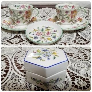 ミントン(MINTON)のruy様専用 デミタスカップ&ソーサー2客と、小皿1枚と、小物入れ(食器)
