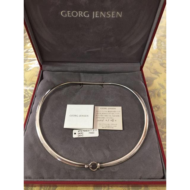 Georg Jensen(ジョージジェンセン)のジョージジェンセン  DEW DROP ネックリングスターリングシルバー  レディースのアクセサリー(ネックレス)の商品写真