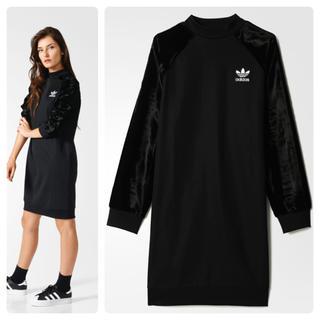 アディダス(adidas)の希少 adidas originals BELOUR SLEEVE DRESS(ひざ丈ワンピース)