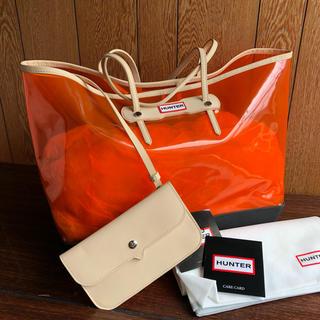 ハンター(HUNTER)の新品 HUNTER☆クリア トートバッグ オレンジ PVC スケルトン ハンター(トートバッグ)