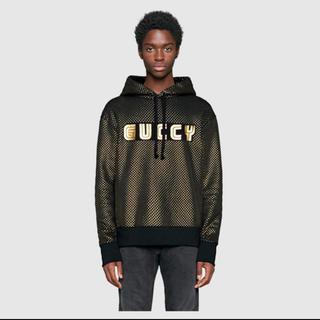 グッチ(Gucci)のGUCCI パーカー ゴールド ブラック GUCCY(パーカー)
