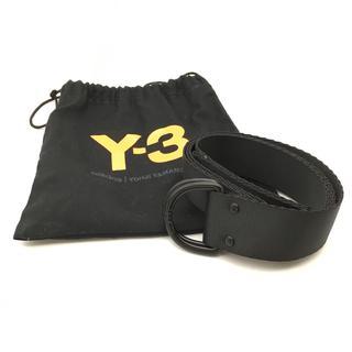 ヨウジヤマモト(Yohji Yamamoto)の美品 ヨウジヤマモト yohji yamamoto y3 ベルト ブラック(ベルト)