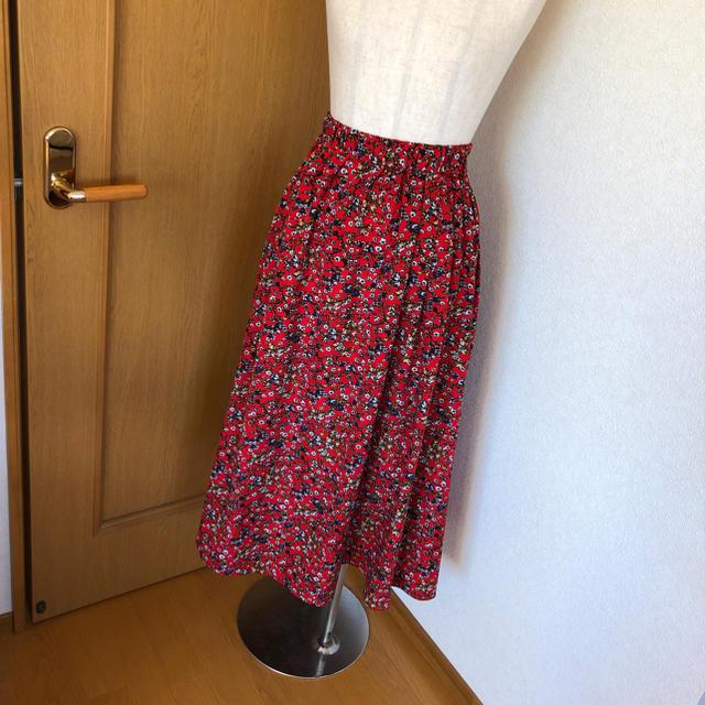 DOUBLE NAME(ダブルネーム)の【新品】Double Name 花柄ロングスカート レディースのスカート(ロングスカート)の商品写真