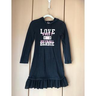 バービー(Barbie)のBarbie 長袖ワンピース サイズ1 150センチ(ワンピース)